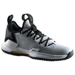 Basketbalschoenen voor heren Fast 500 grijs laag model