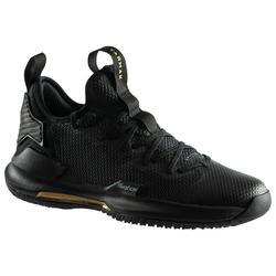 男款低筒籃球鞋Fast 500-黑色