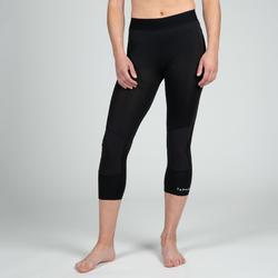 女款七分籃球緊身褲-黑色