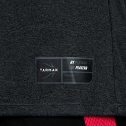 Camiseta Baloncesto Tarmak TS500 Mujer Manga Corta Gris Oscuro BSKBL