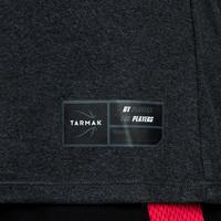 T-SHIRT DE BASKETBALL POUR FEMME CONFIRMÉE GRIS FONCÉ BSKBL TS500
