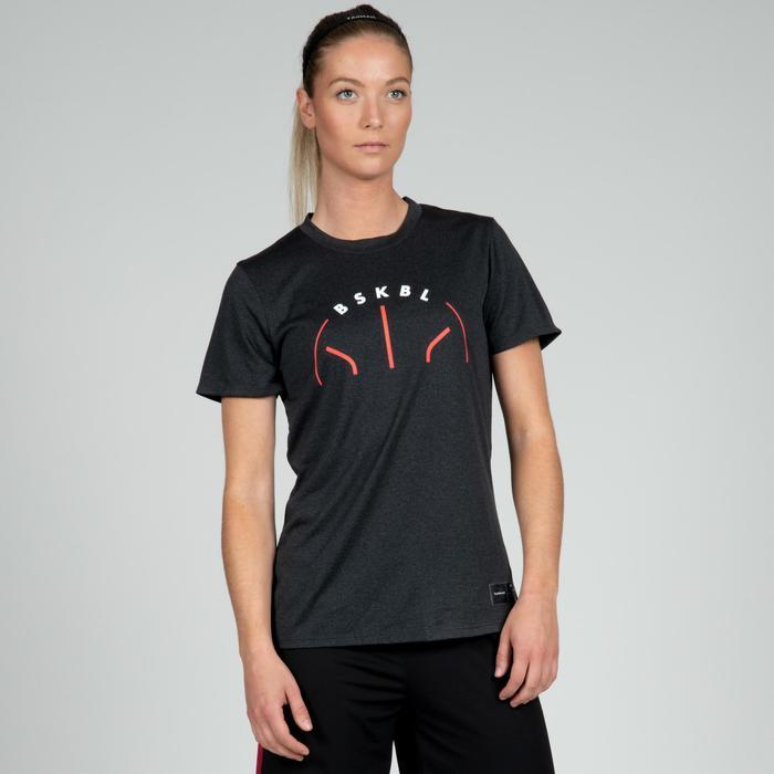 Basketbalshirt voor gevorderde dames donkergrijs BSKBL TS500