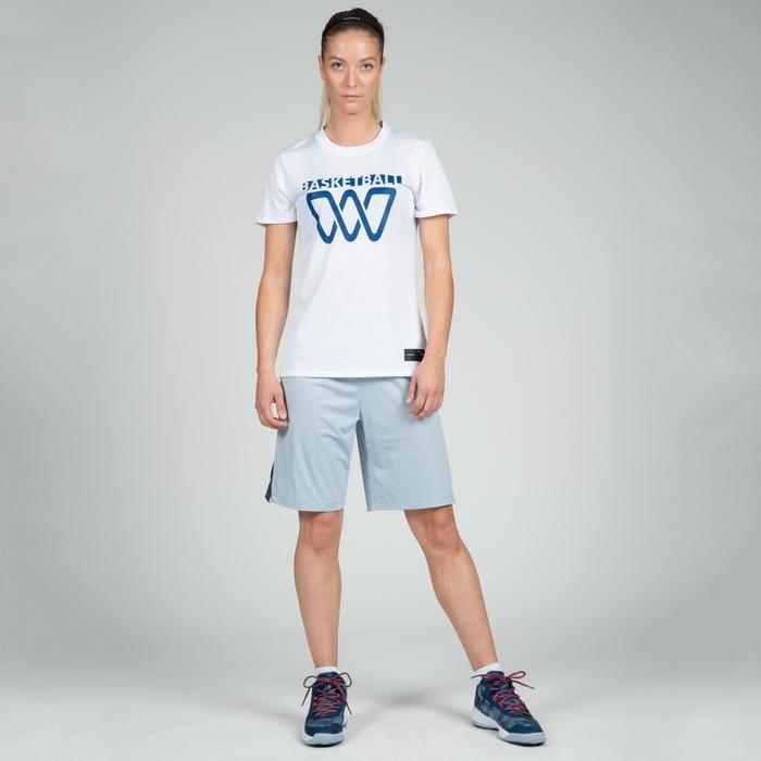 Camiseta Baloncesto Tarmak TS500 Mujer Manga Corta Blanco BBL