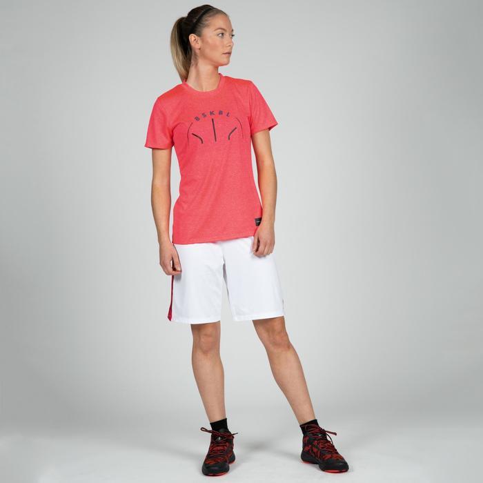 T-SHIRT DE BASKETBALL POUR FEMME CONFIRMEE ROSE BSKBL TS500