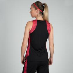 Basketballtrikot T500 Damen schwarz/rosa