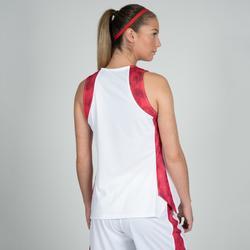 Basketbalshirt voor dames wit roze T500