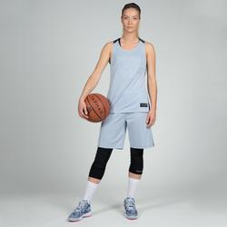 Basketballtrikot T500 Damen grau/schwarz