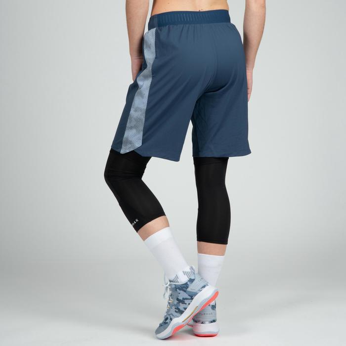 Basketballshorts SH500 Damen blau/grau