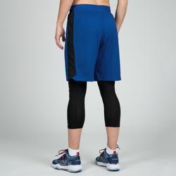 Basketbalshort SH500 blauw/zwart (dames)