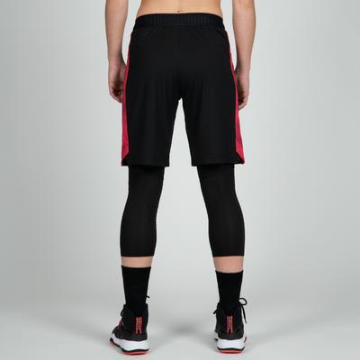 Short Baloncesto Tarmak SH500 Mujer Corto Negro Rosado Coral