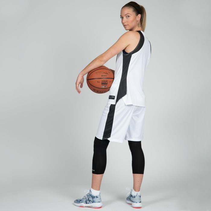Basketballshorts SH500 Damen weiß/schwarz