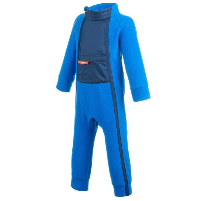 Fleece pak voor skiën / sleeën peuters Midwarm blauw