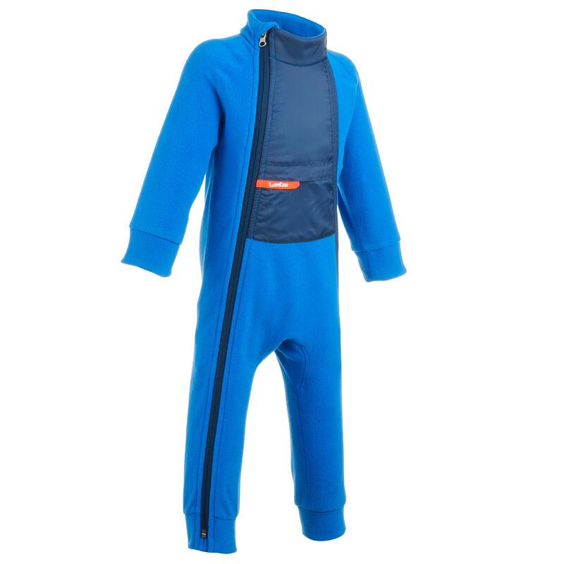 Combinaison polaire bébé ski / luge MIDWARM bleue