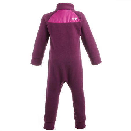 Babies' Skiing/Sledding Fleece Suit Midwarm - Pink
