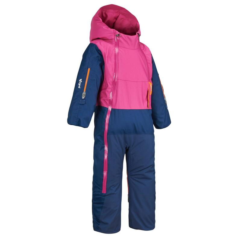 Baby's ski suit XWARM PULL'N FIT - pink and blue