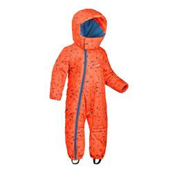Babies' Skiing/Sledging Ski Suit Warm - orange and blue print