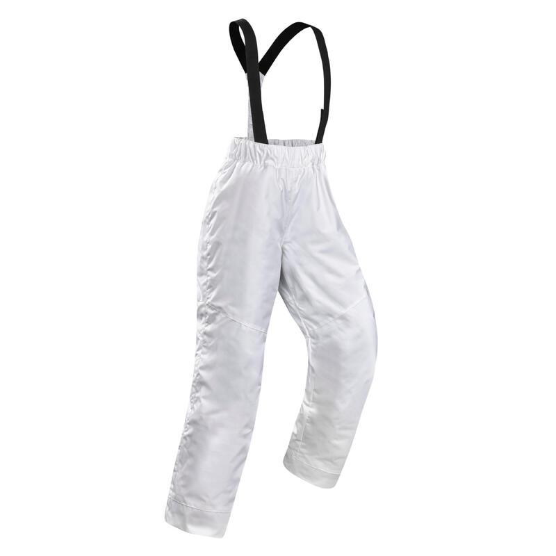 Pantalon schi pe pârtie 100 Alb Copii