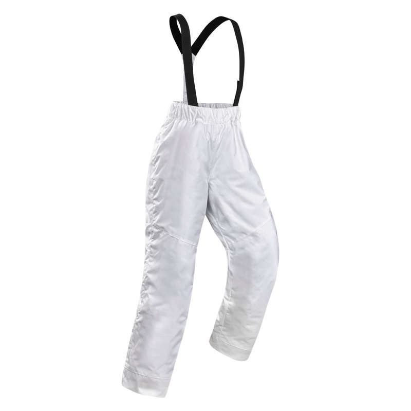 GIRL'S JACKET OR PANTS OCCASIONAL SKIERS Skiing - JR D-SKI TROUSERS 100 - WHITE WEDZE - Ski Wear