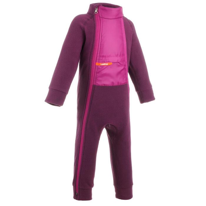 Combinaison polaire de ski / luge bébé midwarm rose