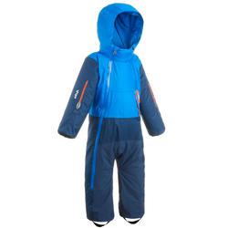 嬰幼兒滑雪/雪橇連身雪衣X-WARM PULL'N FIT藍色