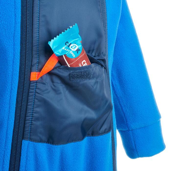 Fleece slee-/skipakje voor peuters Warm blauw