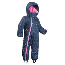 Mono Nieve y Esquí Wed'ze Warm Bebé 12 a 24 Meses Azul Rosa