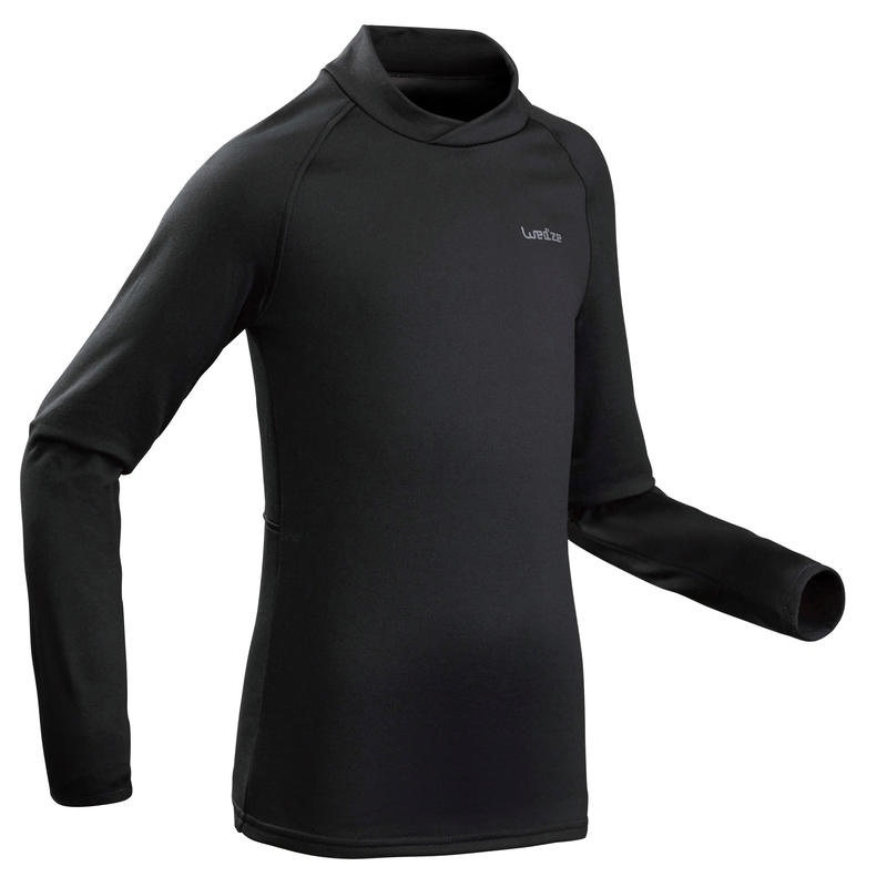 Kids Ski Base Layer Top BL 500 - Black