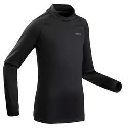 兒童滑雪底層上衣500 - 黑色