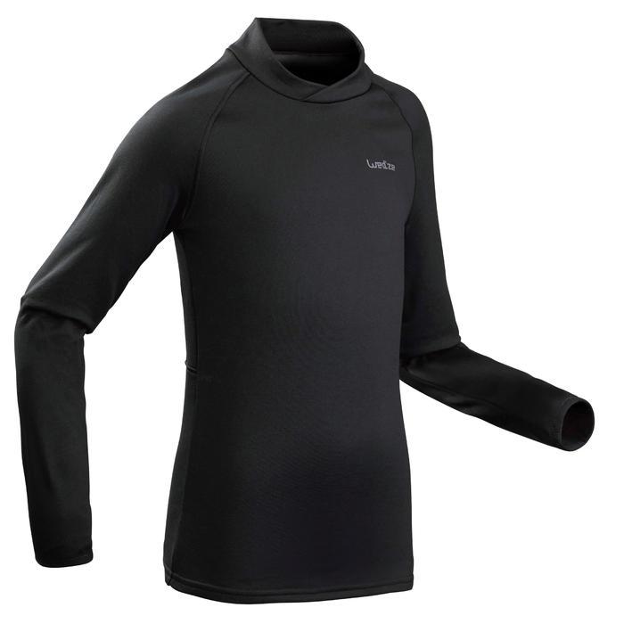 兒童底層滑雪上衣Freshwarm - 黑色
