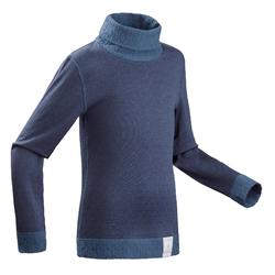 Kids' Base Layer Ski Top 2WARM - Navy blue