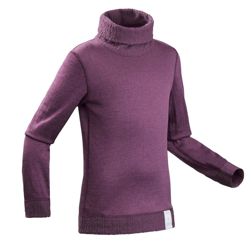 GIRL SKI BASELAYER & PULL Skiing - JR BASE LAYER SKI Top 2WARM  WEDZE - Ski Wear