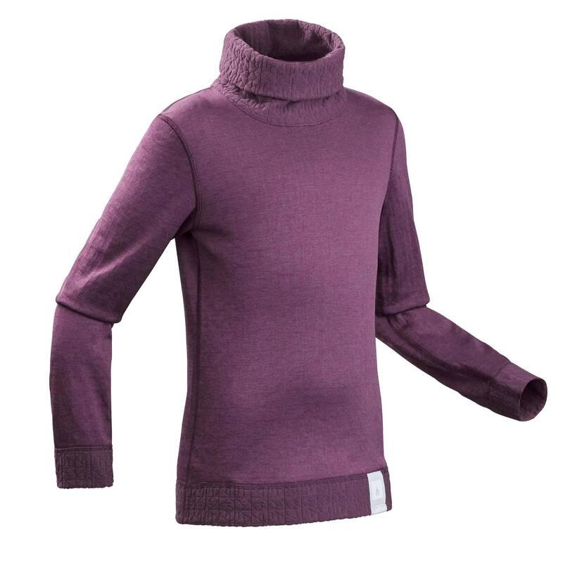 CHLAPECKÁ PRVNÍ A DRUHÁ VRSTVA NA LYŽOVÁNÍ Lyžování - DĚTSKÉ SPODNÍ TRIČKO 2WARM WEDZE - Lyžařské oblečení a doplňky