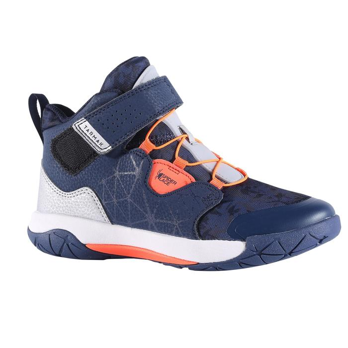 Boys'/Girls' Intermediate Basketball Shoes Spider Lace - Blue/Orange