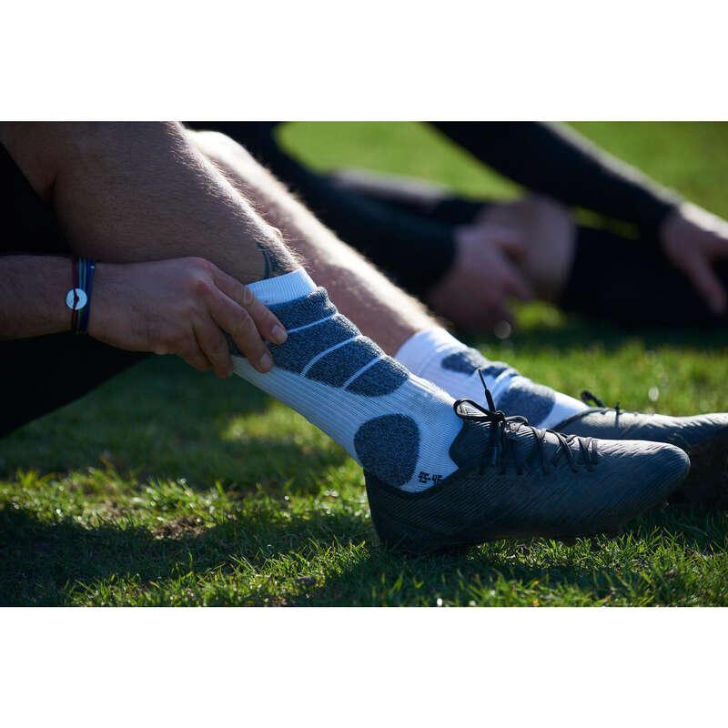 JAMBIERE FOTBAL ADULTI Incaltaminte - Șosete Mid Fotbal Roșu Adulți KIPSTA - Accesorii
