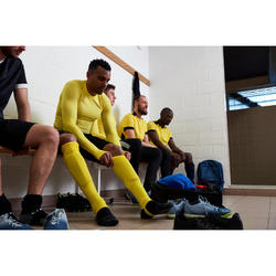 Fußballstutzen F500 mit Steg Erwachsene marineblau