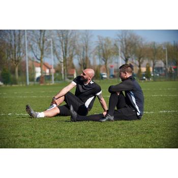 Lange voetbalshort voor volwassenen T500 zwart