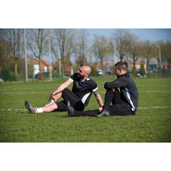 Trainingsshorts T500 lang Erwachsene schwarz