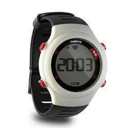 Horloge met hartslagmeter voor hardlopen ONrhythm 110 wit/zwart