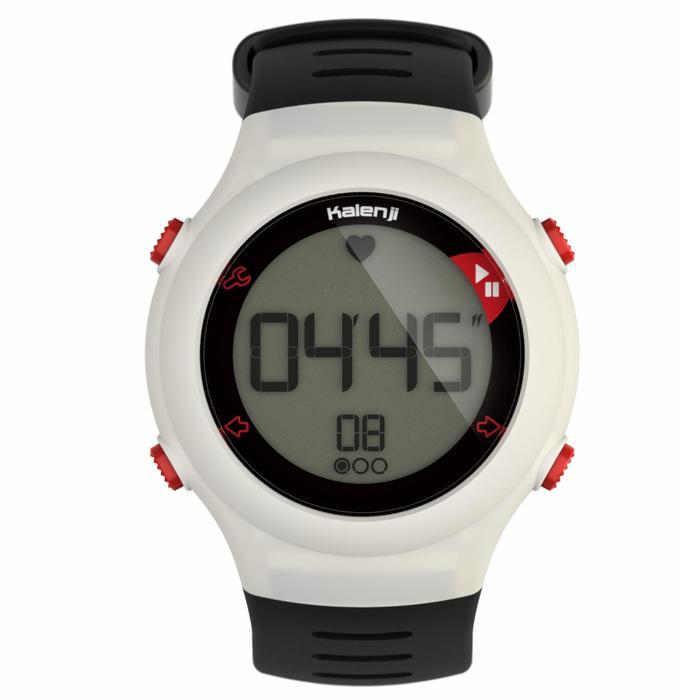 Reloj Pulsómetro Running Kalenji Onrhythm 110 Blanco