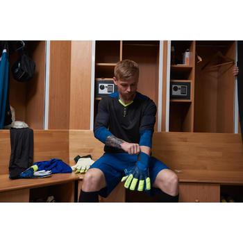 Gant de gardien de football adulte F500 bleu jaune
