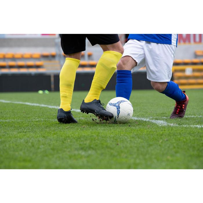 Fußballschuhe Nocken Agility 540 FG Erwachsene schwarz/grau/gelb