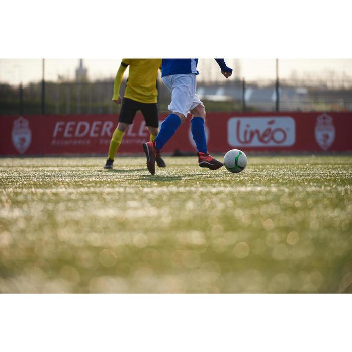 Fußballschuhe Nocken Agility 900 Mesh Mid HG Erwachsene rot/orange
