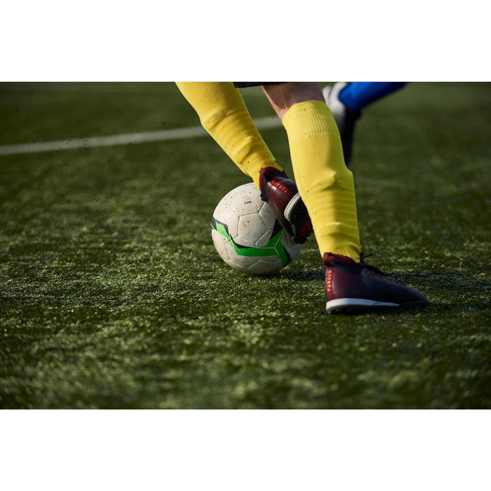 Botas de fútbol adulto terrenos duros Agility 900 HG negro burdeos