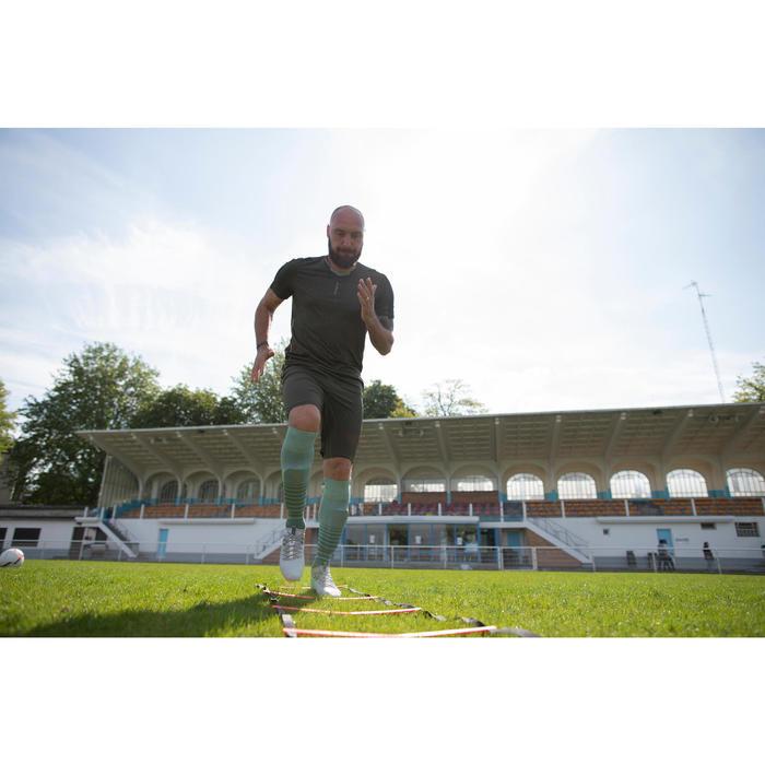 Voetbalshort voor volwassenen 3 in 1 F540 kaki webexclusief