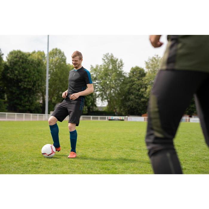 Voetbalshort voor volwassenen 3 in 1 F540 zwart/blauw