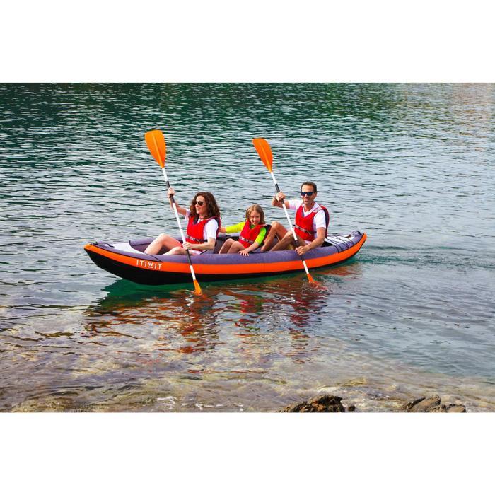 kayak Canoa Hinchable De Travesía Itiwit 2/3 Plazas Naranja