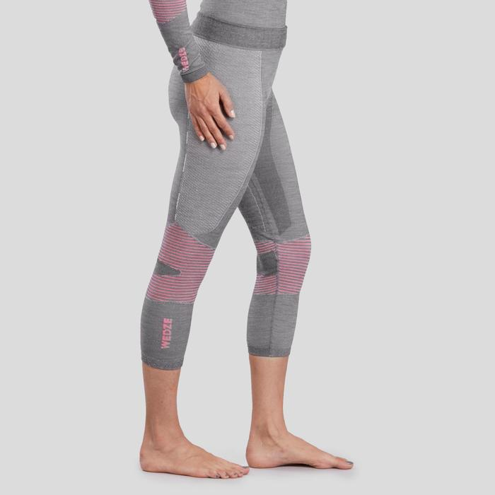 Skithermobroek voor dames 900 X-Warm grijs