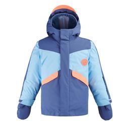 Schneeanzug Skianzug Piste 500 Kinder blau / koralle