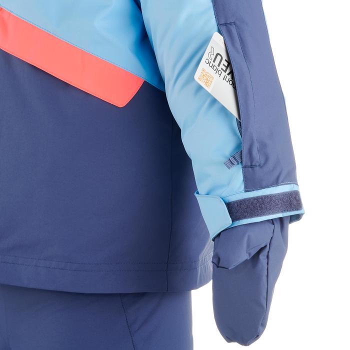 兒童滑雪衣Ski-P Combo 500 PNF - 藍色與珊瑚紅