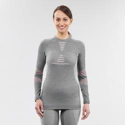 Camiseta térmica Esquí y Nieve interior Wed'ze 900 XWarm Mujer Gris